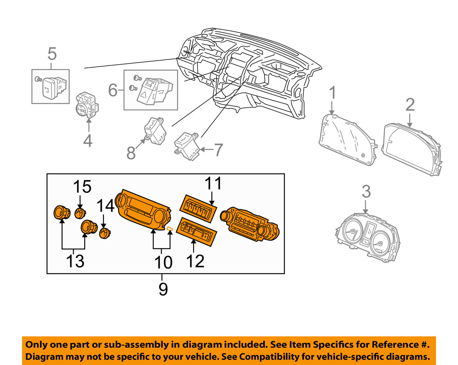Honda Oem Cr V Climate Control Unit Temperature Fan Heater A C Crv Diagram 79500swaa12za 1 Of 2only Available