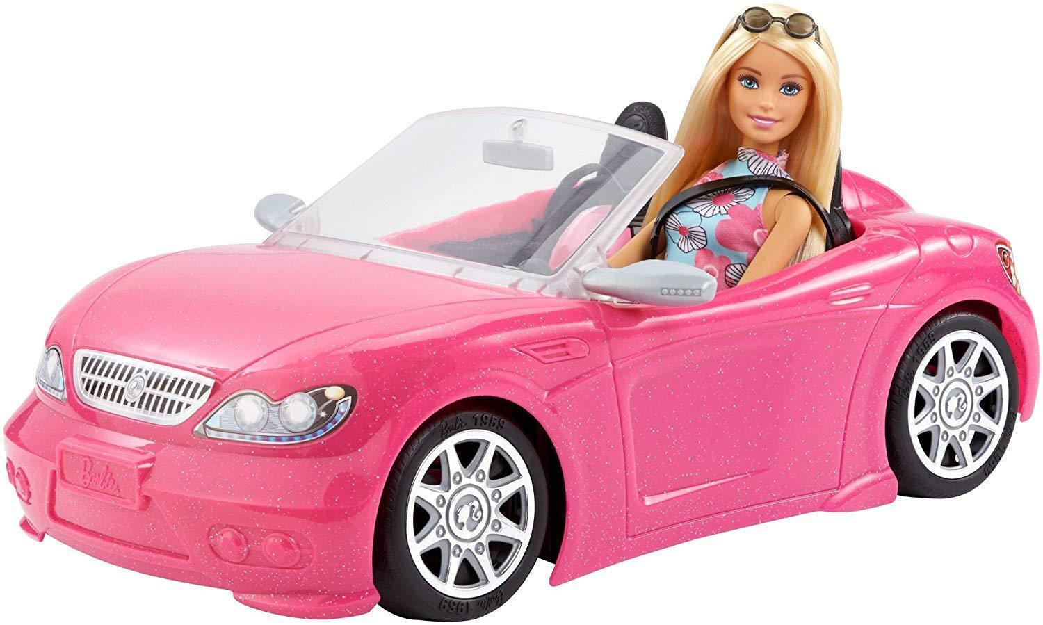 barbie convertible pink car and doll pack. Black Bedroom Furniture Sets. Home Design Ideas