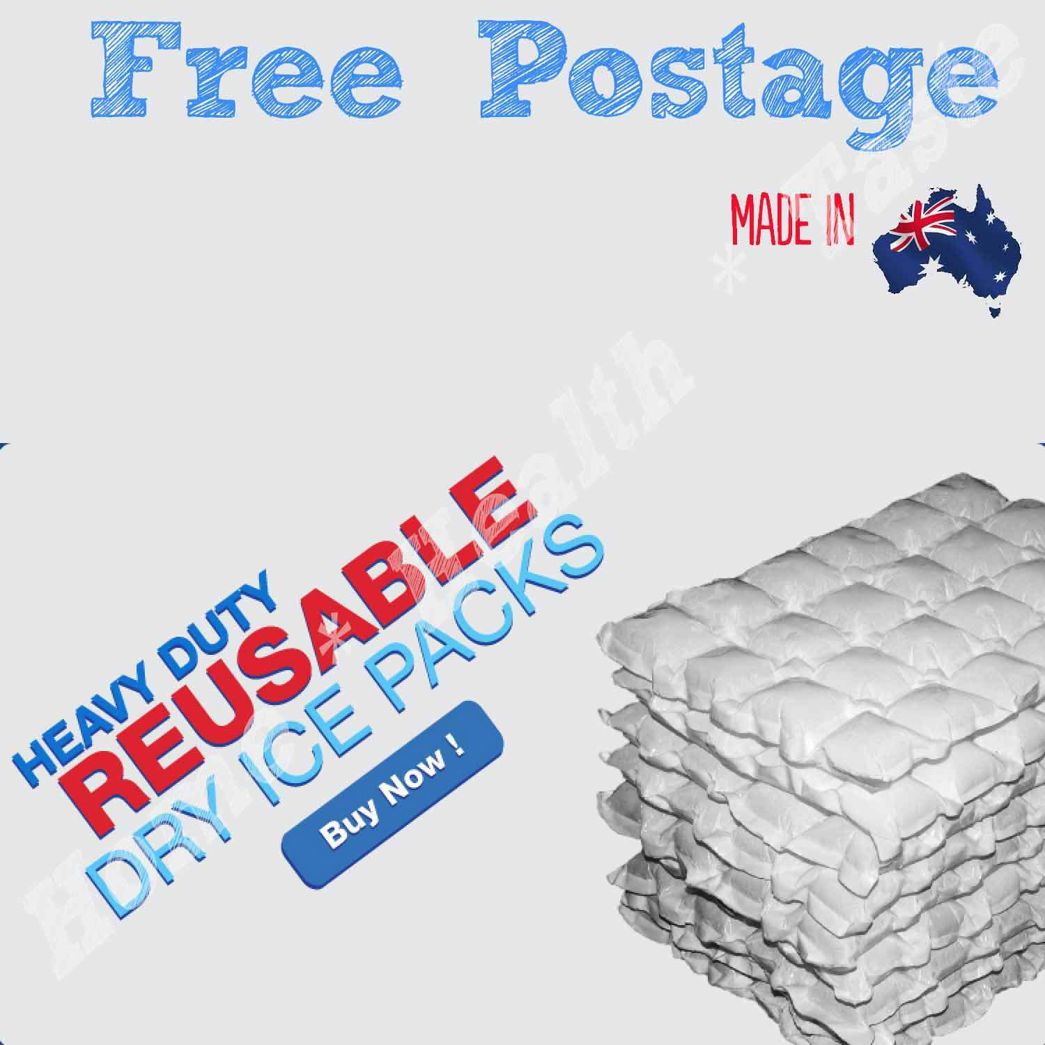 10 Sheets Eski  Ice Packs Reusable Hydratable Dry Wrap Cooler / Hot Pack