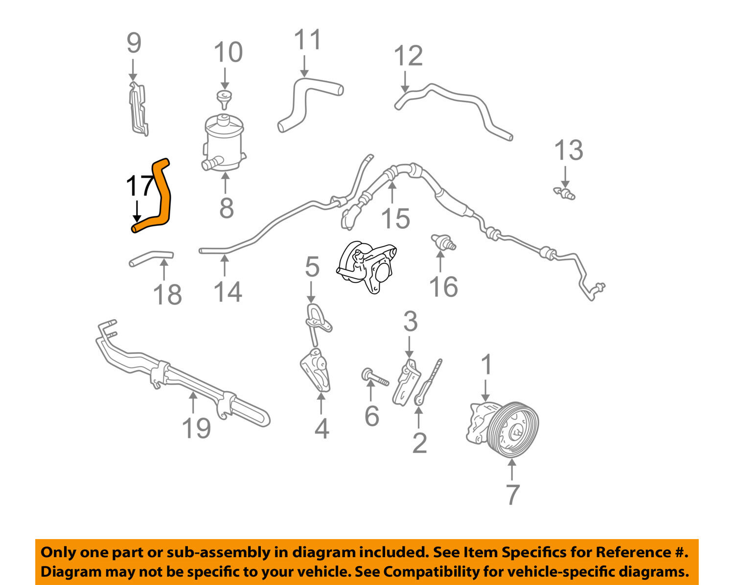 Honda Oem Pump Hose Power Steering Cooler Tube 53732s3va01 2292 And Hoses 1 Of 1only Available