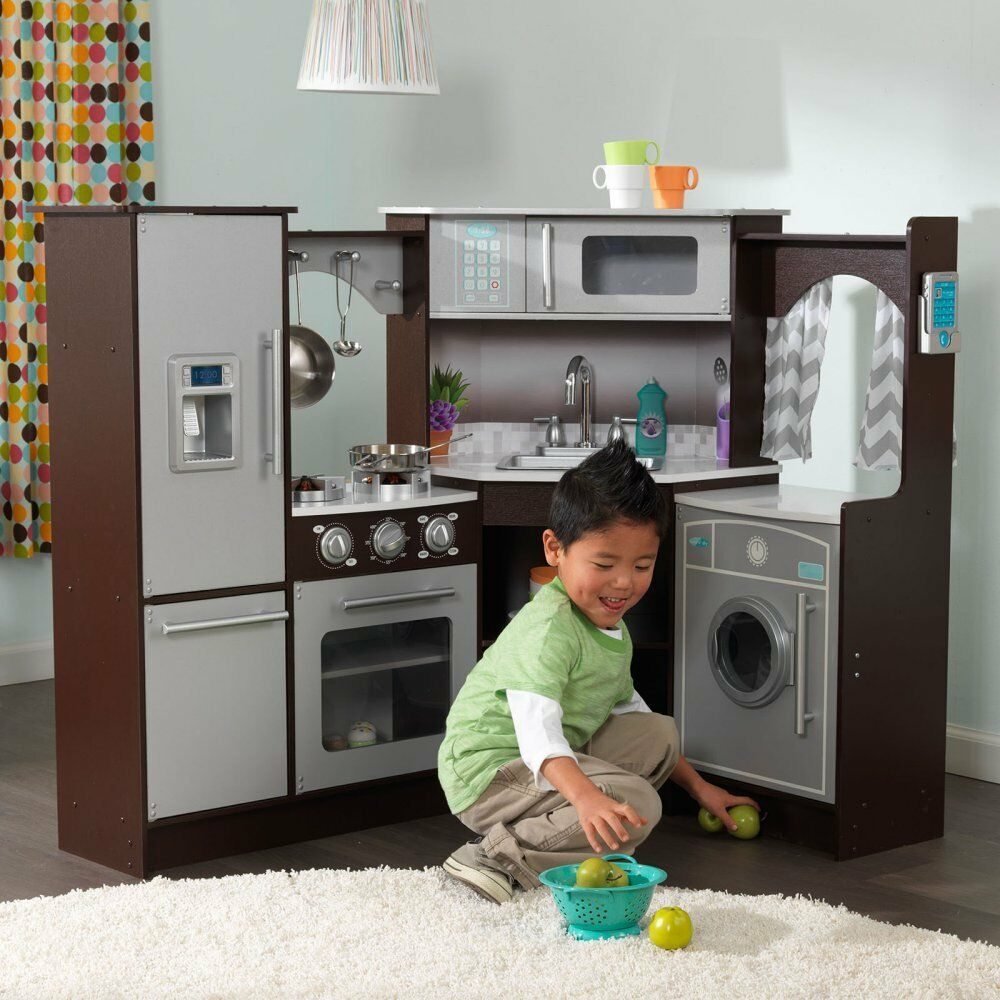 Kidkraft Ultimate Corner Play Kitchen With Lights And Sounds Video
