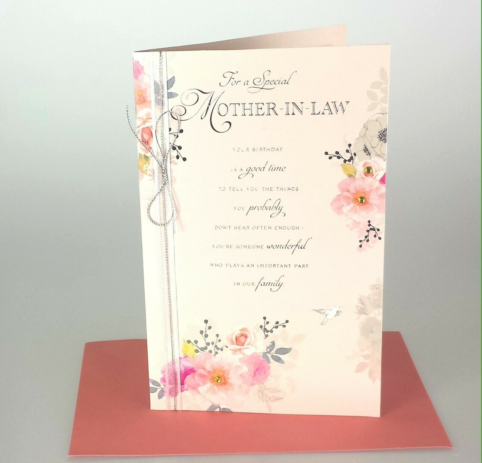 For A Special Mother In Law Lovely Design Happy Birthday Mil