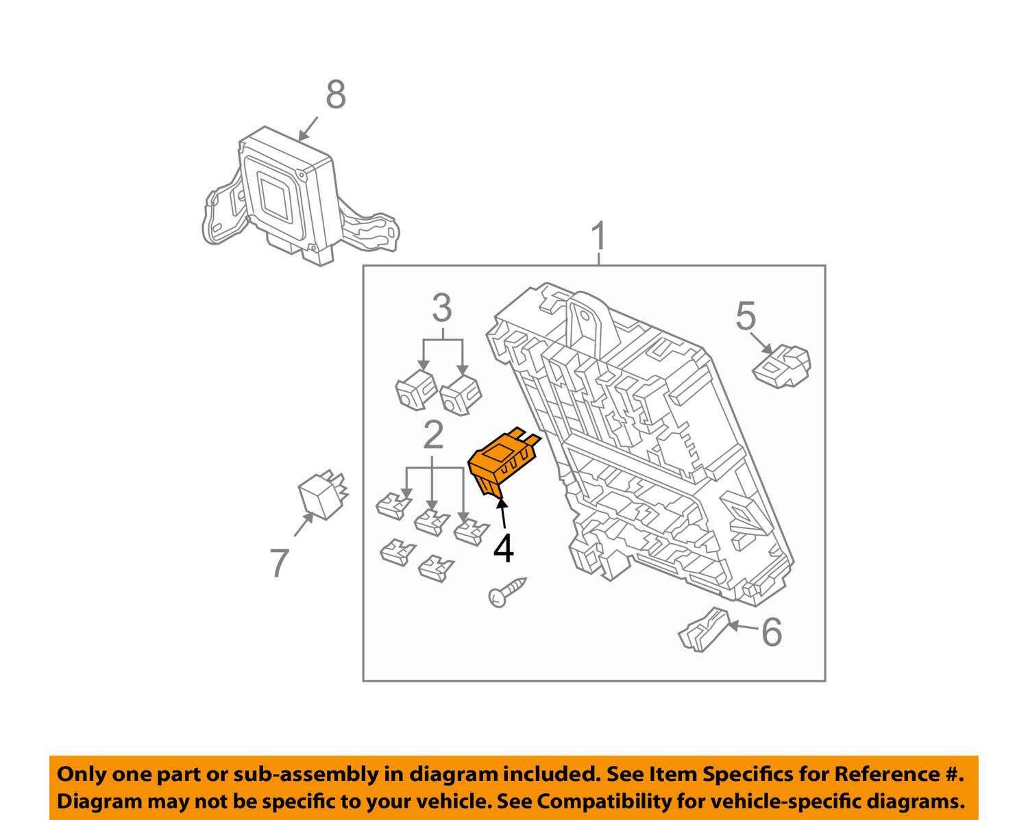 Honda Oem 09 13 Fit Electrical Maxi Fuse 38232sdaa01 1307 Picclick Accord Troubleshootin G Manual Wiring Diagram 1 Of 2only Available