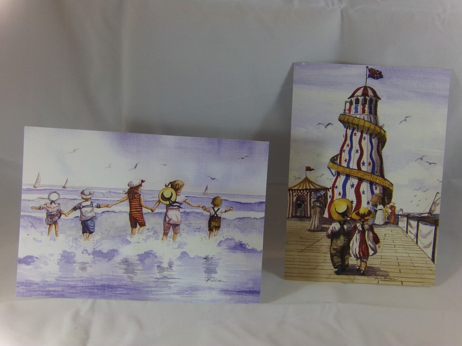 Lot Of 2 Ahaf Exclusive Collection Beach Themed Greeting Cards New