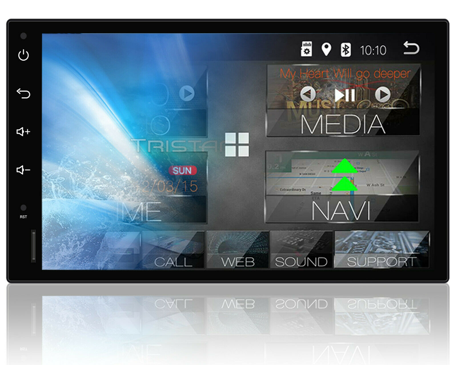 autoradio mit navi navigation bluetooth touchscreen dab. Black Bedroom Furniture Sets. Home Design Ideas