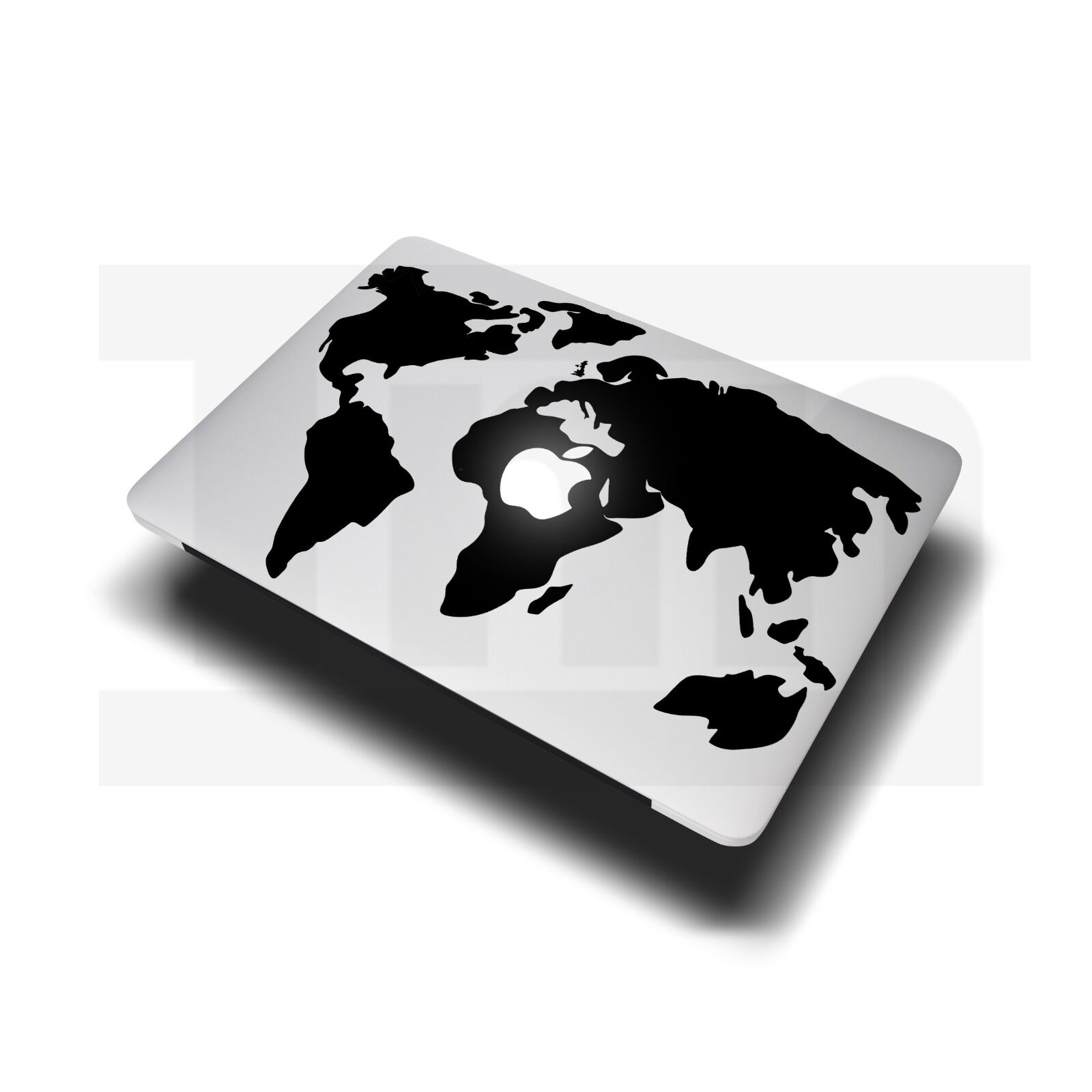 World map decal sticker for apple macbook air pro laptop 11 13 15 1 of 1only 1 available gumiabroncs Choice Image