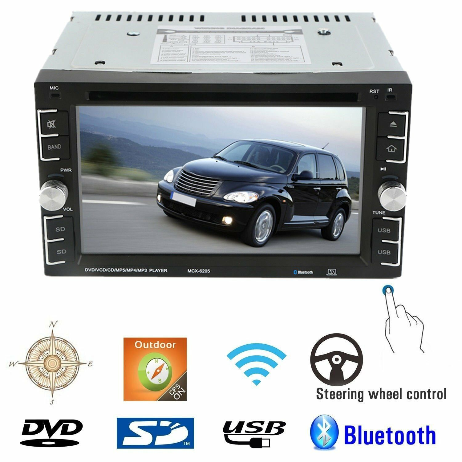 autoradio mit gps navigation navi bluetooth touchscreen dvd cd usb sd mp3 2din l eur 64 20. Black Bedroom Furniture Sets. Home Design Ideas