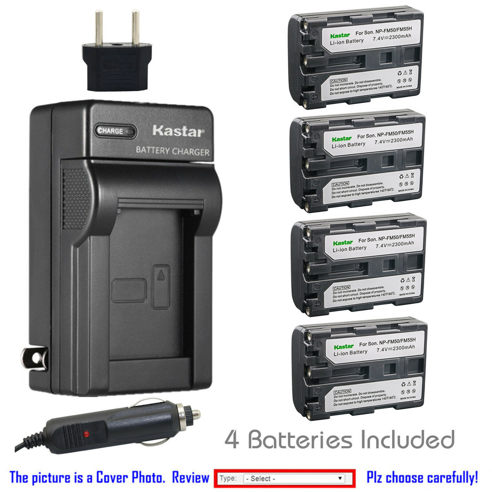 Kastar Battery Charger Sony Np Fm50 Fm55h Alpha A100 A100h A100k Wasabi Power 2 Pack And For Fw50 1 Of 6free Shipping