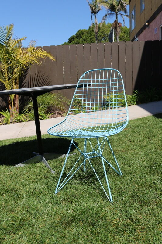 Eames wire chair vintage herman miller with eifel base mid for Eames replica deutschland