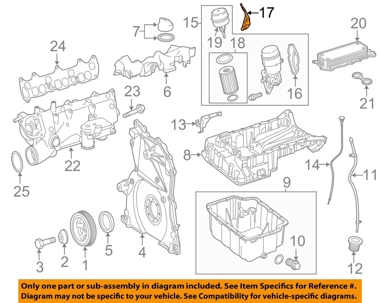 Genuine Oem Mercedes Benz Engine Oil Filter O Ring Seals 642 180 Diagrams 1 Of 2free Shipping