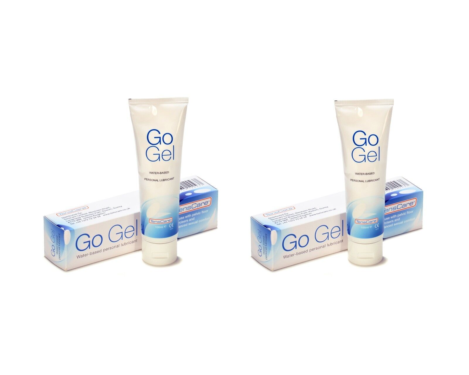 """2 """"GO Gel"""" Water Based Personal Gels for Pelvic Floor Devices - 100ml - TensCare"""