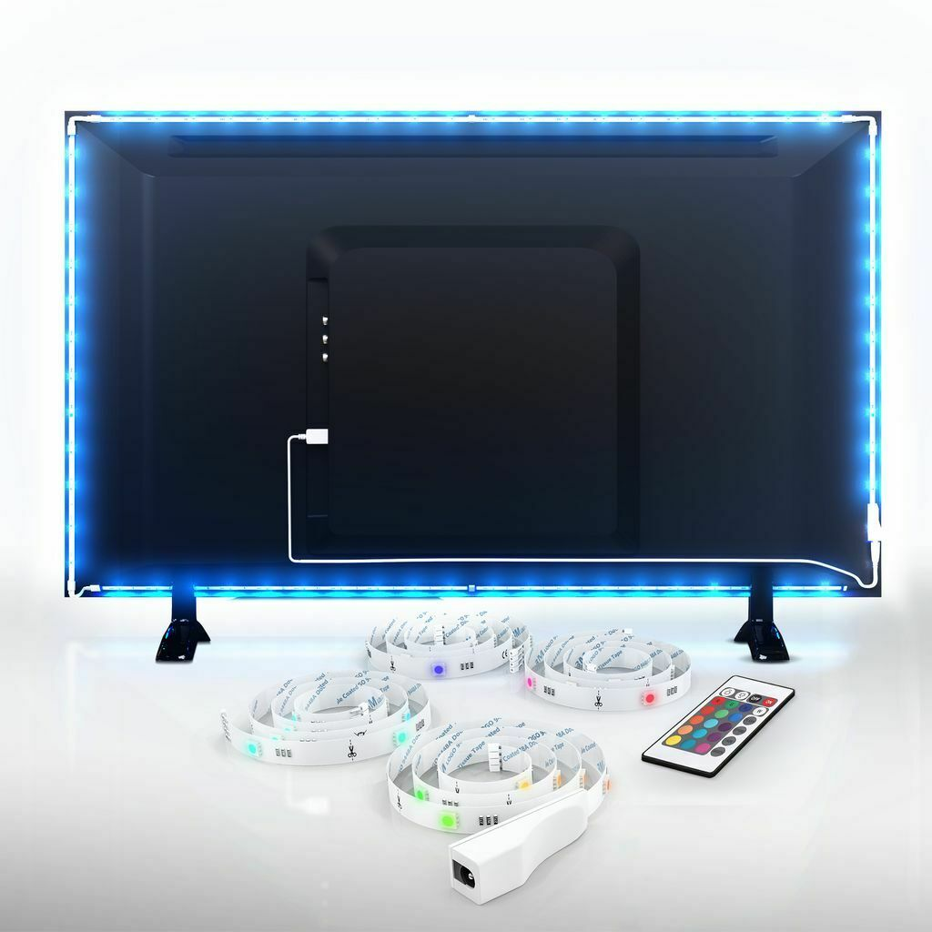 led usb backlight tv hintergrund beleuchtung licht band. Black Bedroom Furniture Sets. Home Design Ideas
