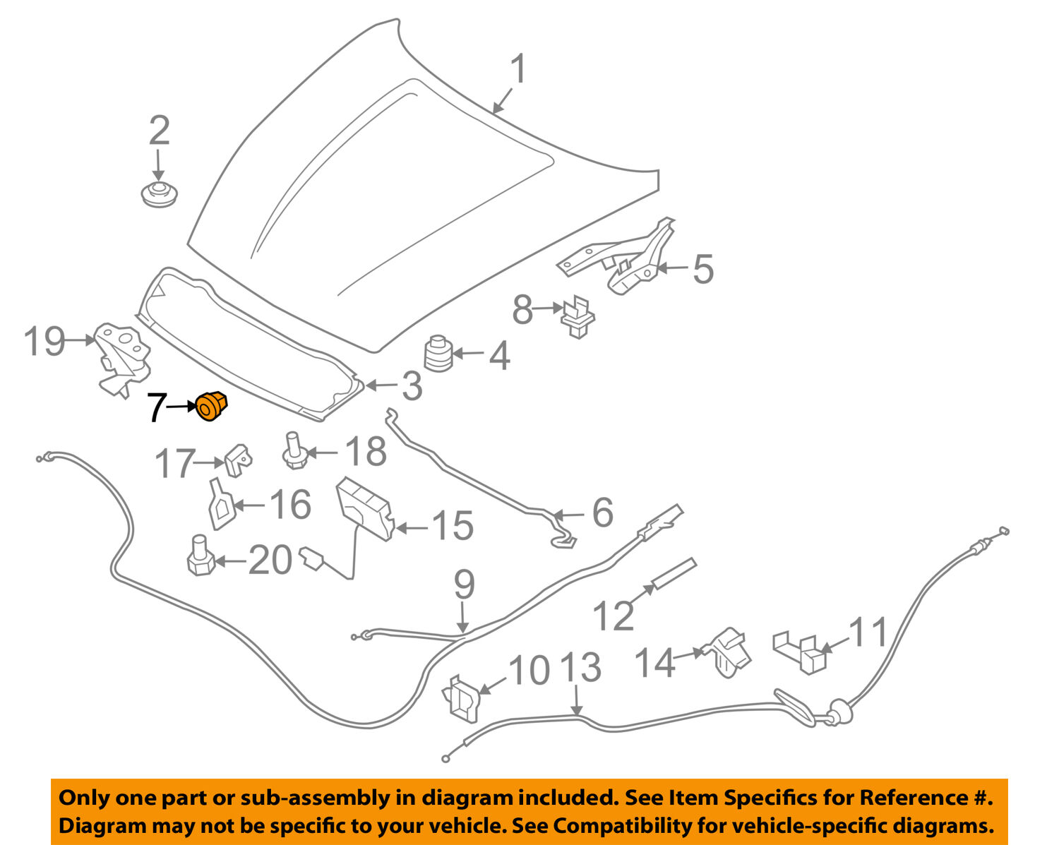 Nissan Oem 09 16 370z Hood Support Prop Rod Grommet 65773ax000 3 1 Engine Diagram Of 2free Shipping