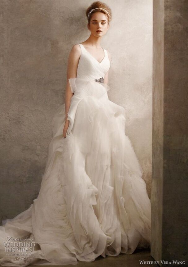 VERA WANG WHITE wedding gown - $800.00 | PicClick