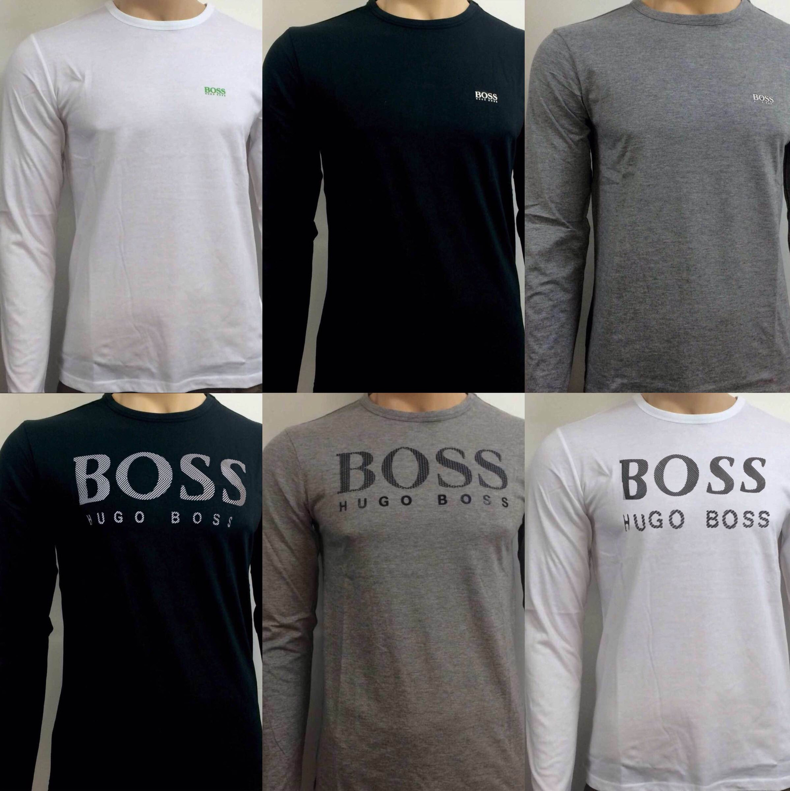Hugo boss crew neck long sleeve t shirt for men on sale for Boss t shirt sale