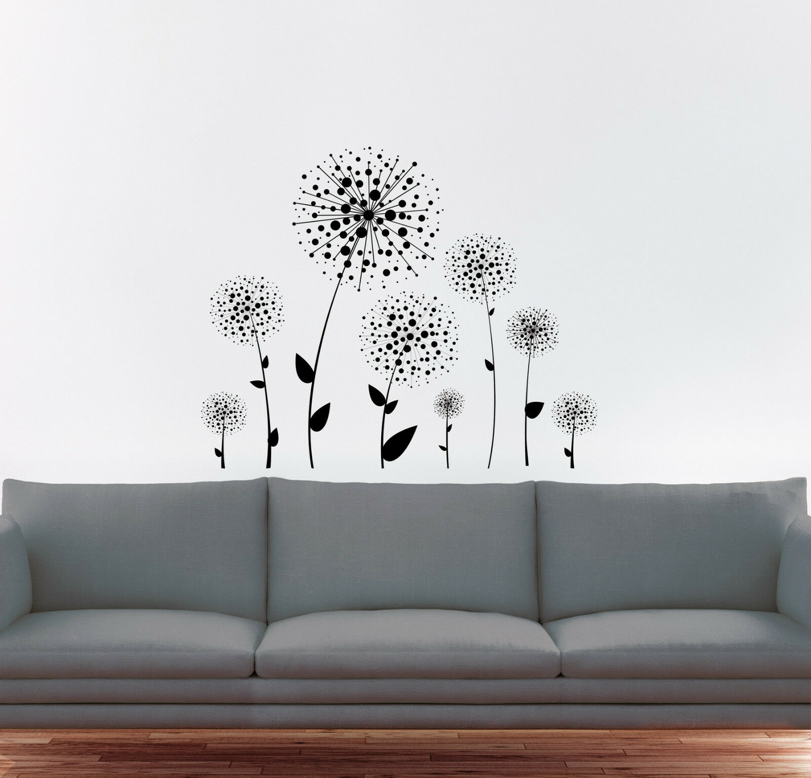 xxl wandaufkleber set 16 x pusteblume aufkleber sticker. Black Bedroom Furniture Sets. Home Design Ideas