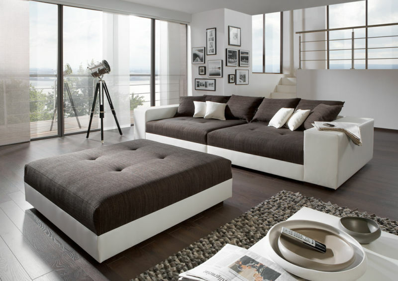 big sofa exclusiv mit hocker federkern alle ma e m glich xxl mega sofa couch eur. Black Bedroom Furniture Sets. Home Design Ideas