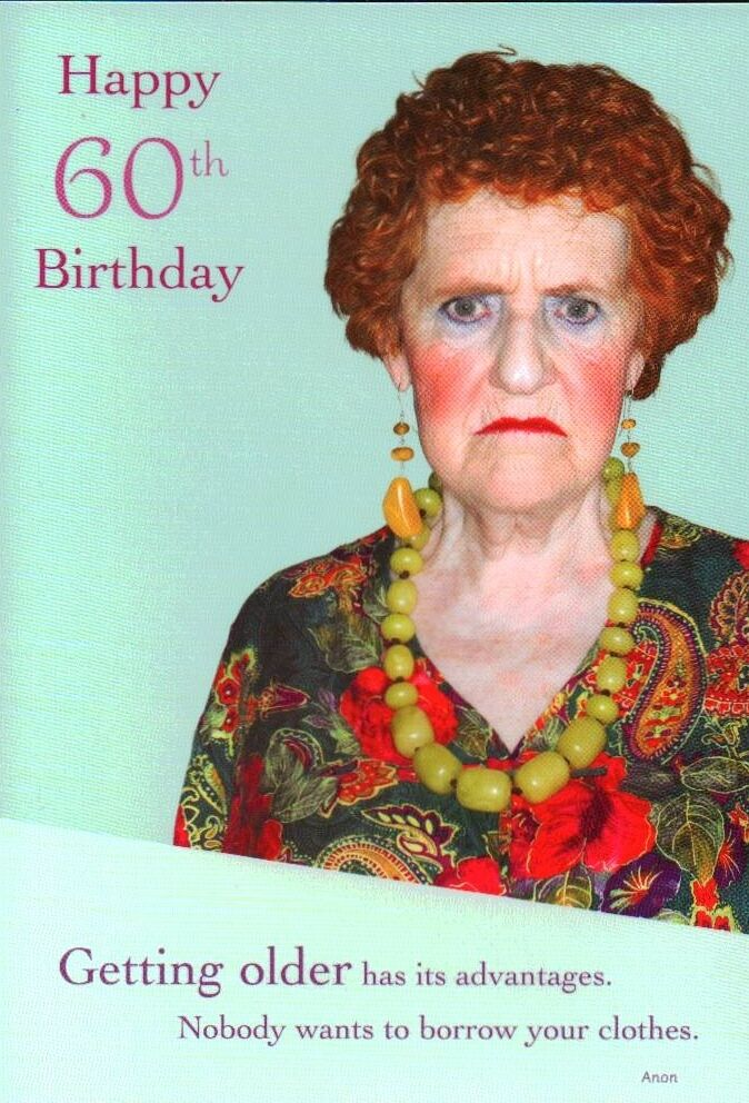 Happy 60th Birthday Greeting Card Humour 249 Picclick Uk