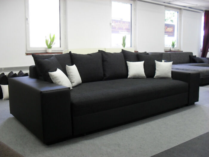 big schlafsofa schlafcouch sofa bett couch federkern liegefl che 170 x 210cm eur 769 00. Black Bedroom Furniture Sets. Home Design Ideas