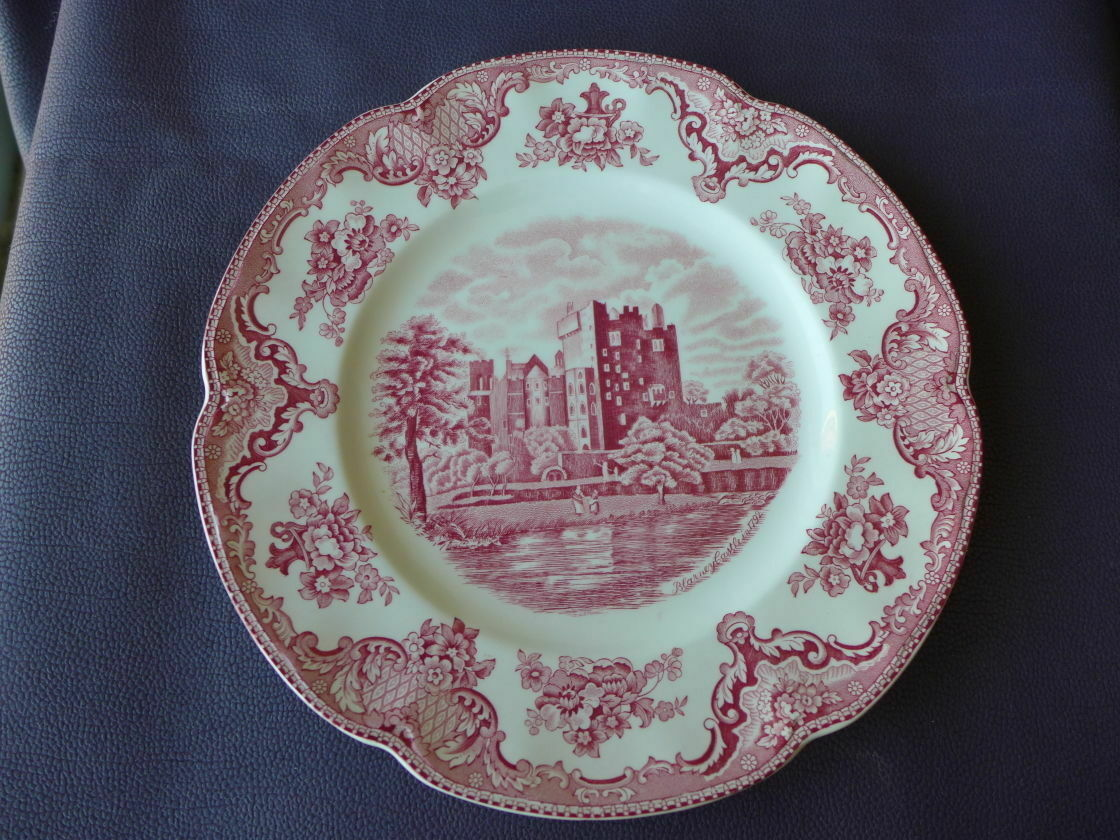 VINTAGE JOHNSON BROS Pink Old Britain Castles Crown Mark China 10 ...