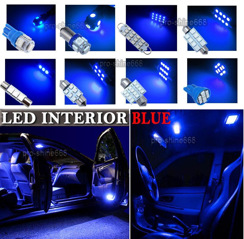 newest led car interior light bulbs package kit for vauxhall astra h mk5 blue eur 11 31. Black Bedroom Furniture Sets. Home Design Ideas