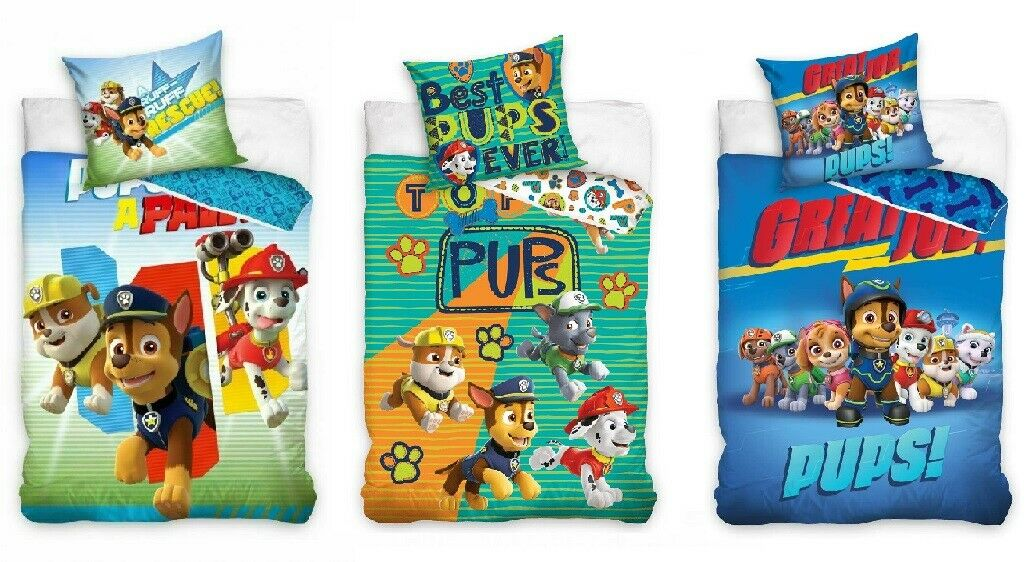 paw patrol nickelodeon bettw sche kinderbettw sche babybettw sche 135x200 140x20 picclick de. Black Bedroom Furniture Sets. Home Design Ideas