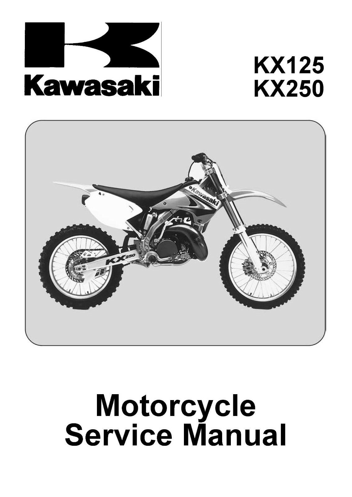 Kawasaki service manual 2003 KX125-M1 & KX250-M1 / 2004 KX125-M2 1 of 12 ...