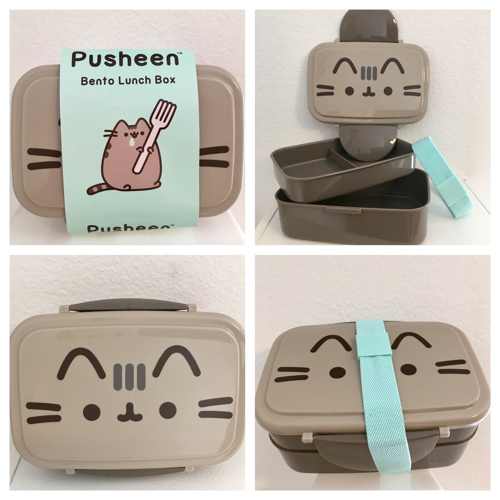pusheen subscription box exclusive kawaii bento lunch box 2 layer stack last1 cad. Black Bedroom Furniture Sets. Home Design Ideas