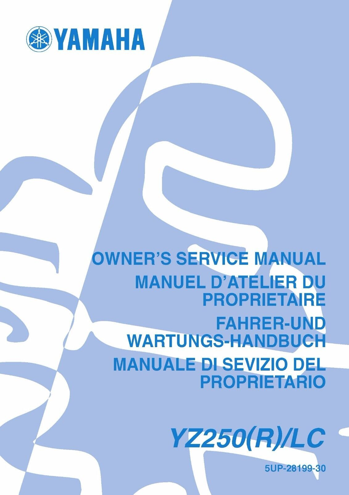 Yamaha service workshop manual 2003 YZ250 (R)/LC 1 of 12FREE Shipping ...