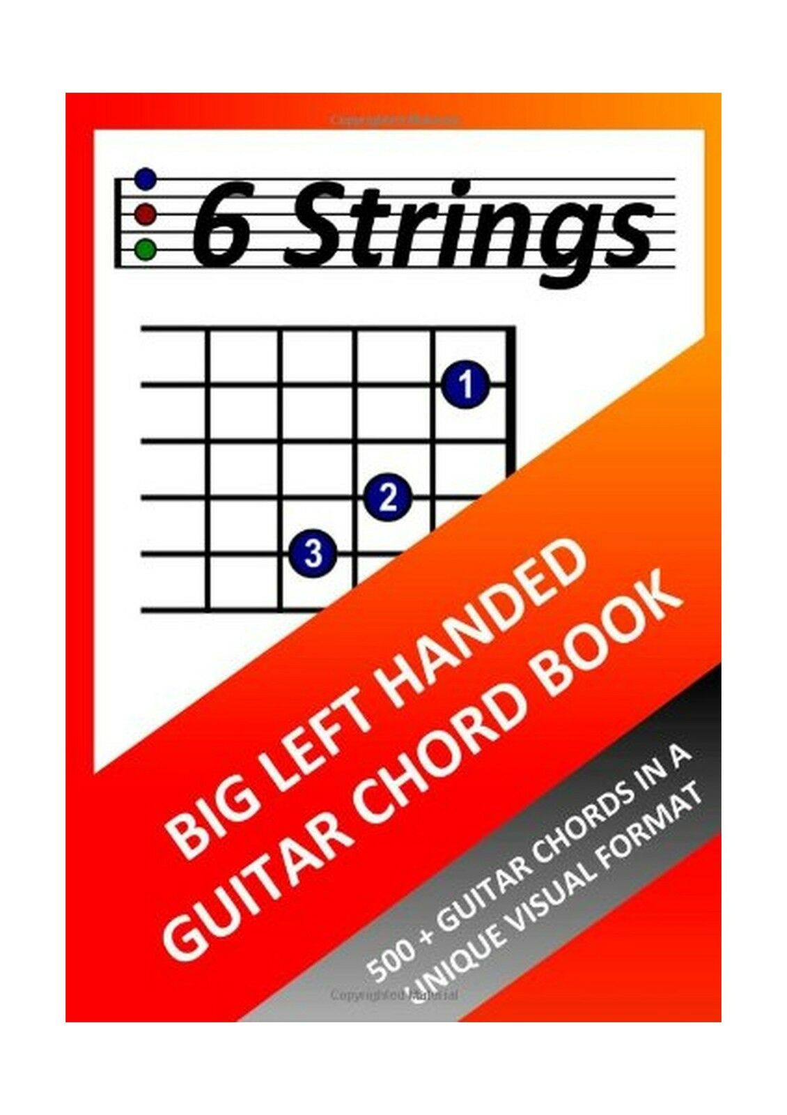 Big Left Handed Guitar Chord Book Free Shipping 1109 Picclick