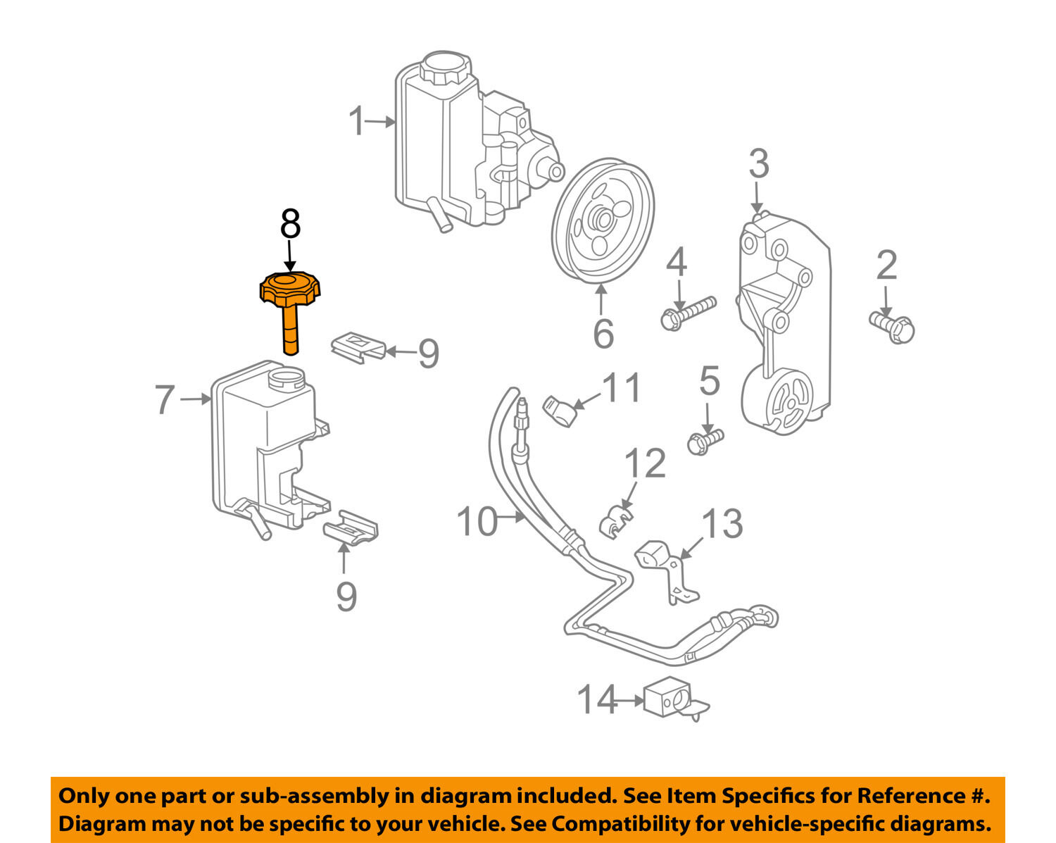 Hummer Gm Oem 06 10 H3 Power Steering Pump Reservoir Tank Cap Fuse Box In Amazon 15132766 1 Of 2only 0 Available