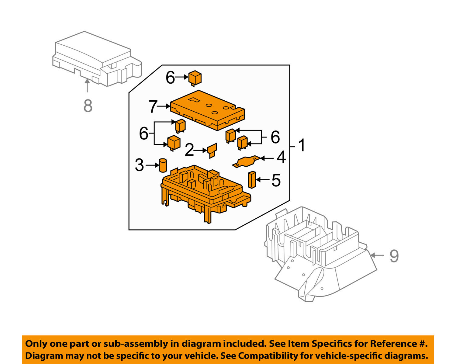 Buick Gm Oem 2007 Rainier Electrical Fuse Relay Box 25790682 07 Lacrosse Diagram 1 Of 2only 2 Available