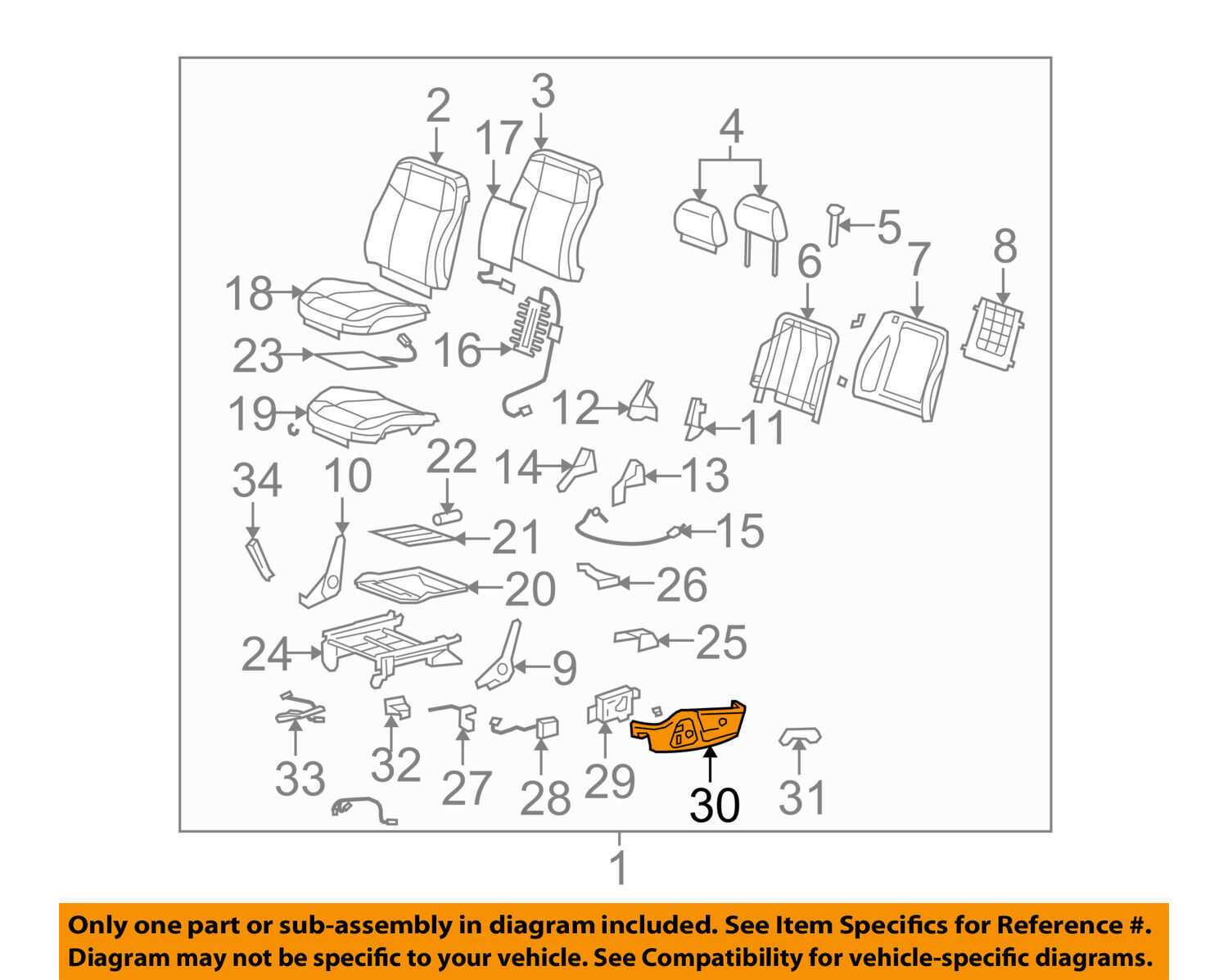 Hummer Gm Oem 06 10 H3 Front Seat Cover Outer Left 25996697 2008 Fuse Box 1 Of 2only 3 Available