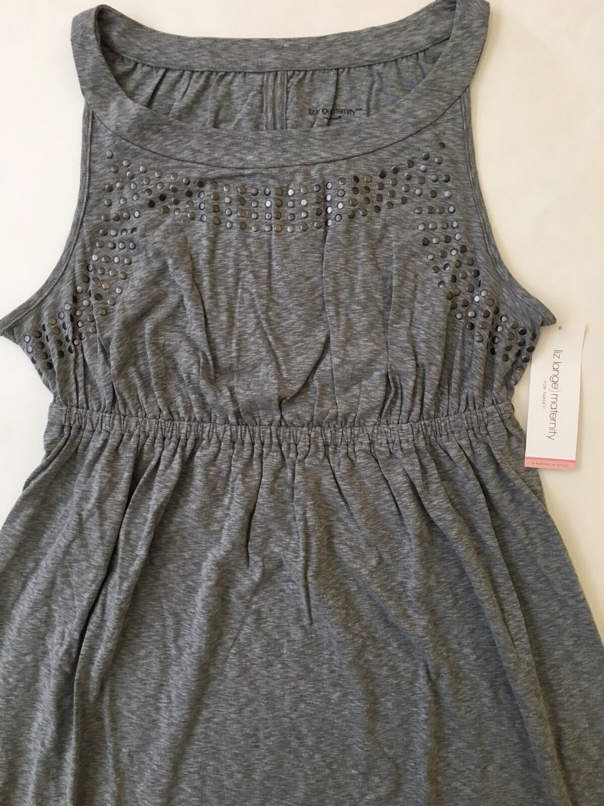 5457cde31dd4d NEW Liz Lange Knit Maternity Dress - Grey Size M 1 of 7Only 5 available ...