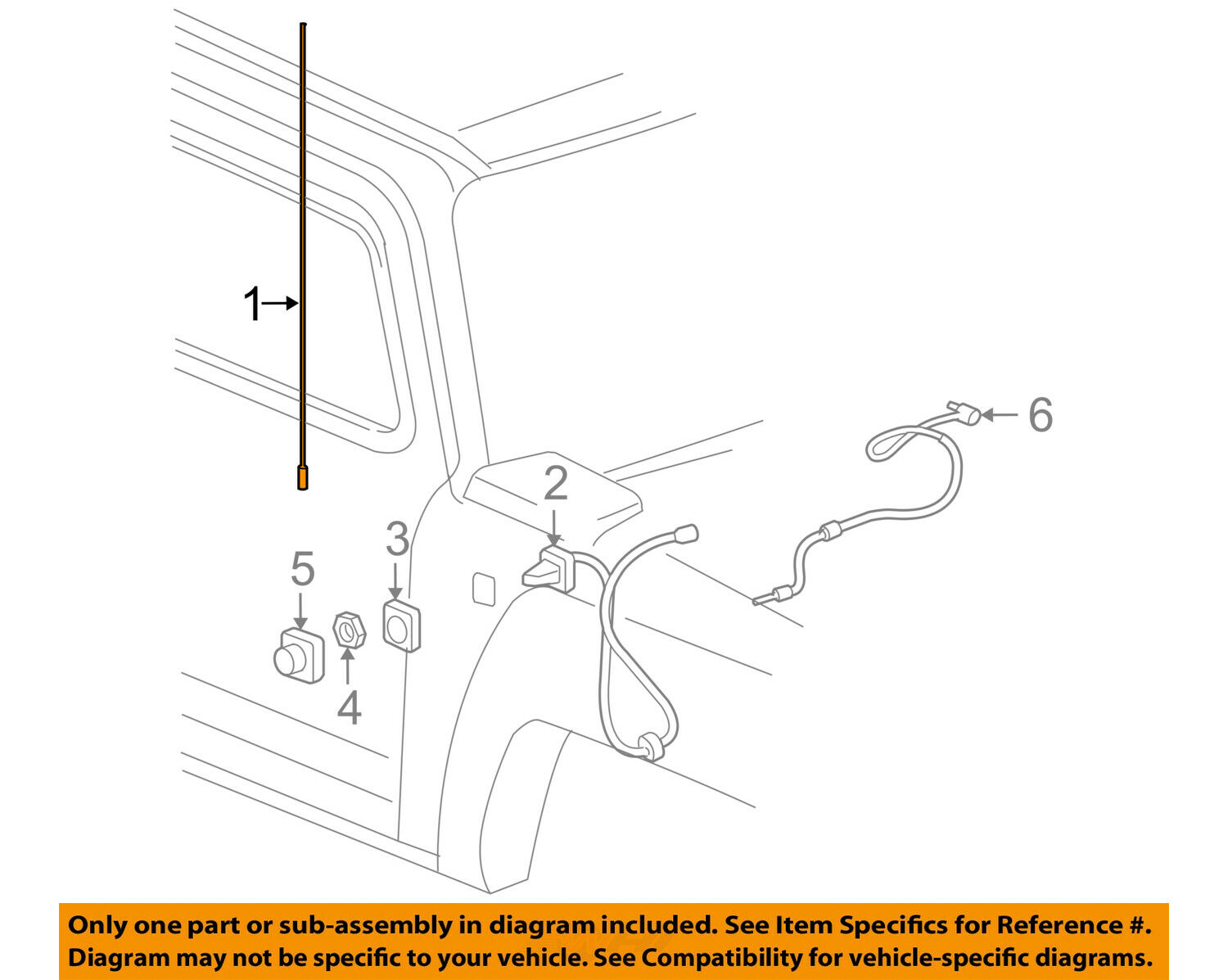 Hummer Gm Oem 06 10 H3 Antenna Mast 15114228 3045 Picclick Fuse Diagram 1 Of 2only 3 Available
