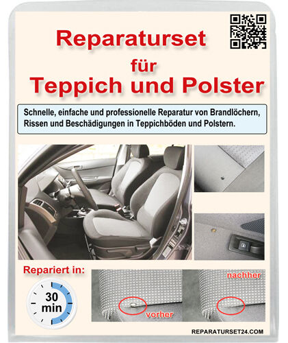 teppich polster autositz kfz stoff brandloch reparatur set smart repair 35 tlg eur 24 80. Black Bedroom Furniture Sets. Home Design Ideas