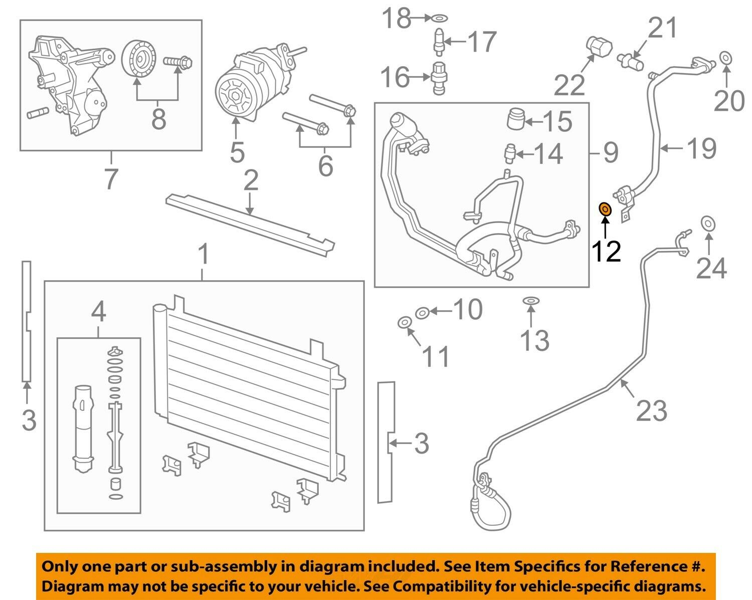 Chevrolet Gm Oem A C Ac Condenser Compressor Line Pressure Hose O Diagram For All Corvette Years 1 Of 2only Available