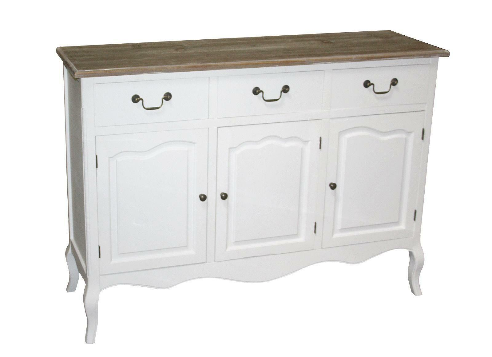 maison belfort kommode mauriac ii shabby look sideboard weiss schrank anrichte eur 199 00. Black Bedroom Furniture Sets. Home Design Ideas