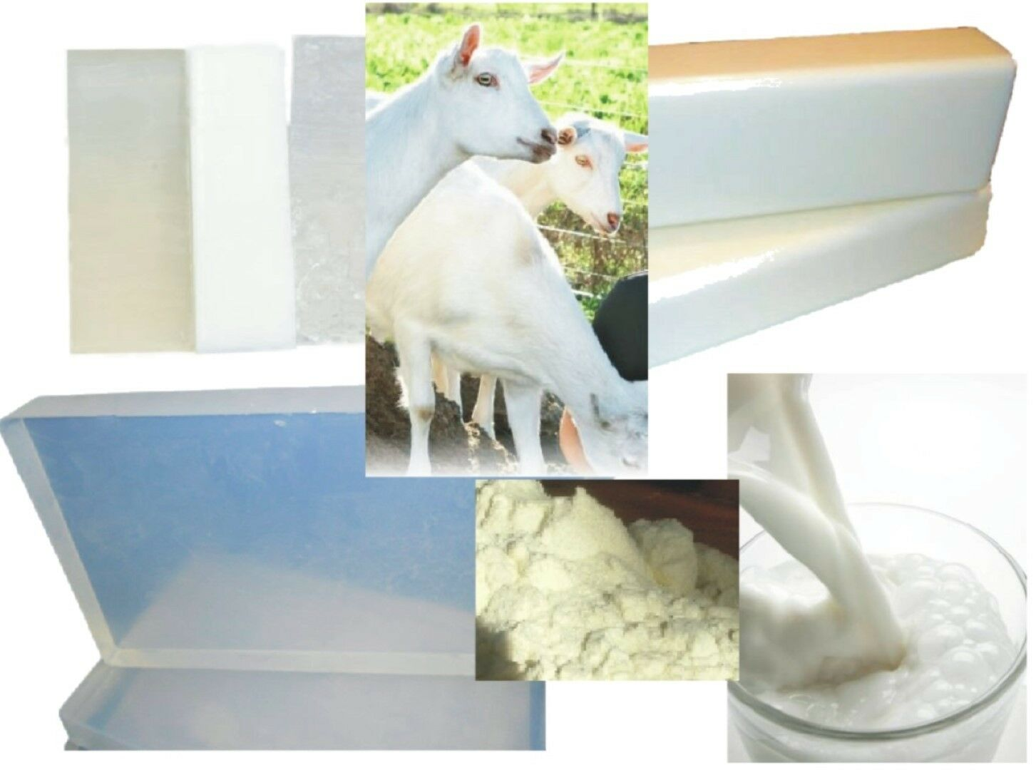 1 kg GOATS MILK MELT and POUR SOAP BASE MP + FREE eBook, Make 10-20 Bars