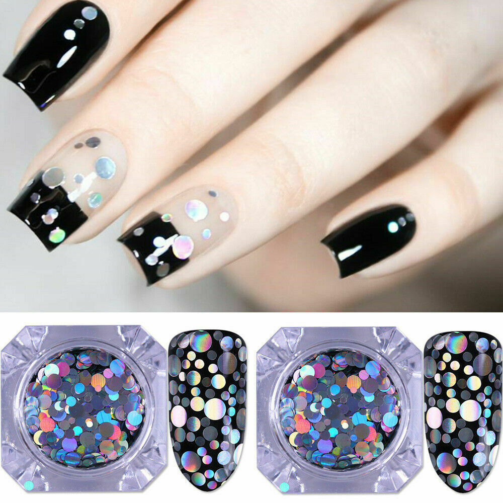 BORN PRETTY 2BOXES Nail Glitter Sequins Holographic Flakes Laser ...