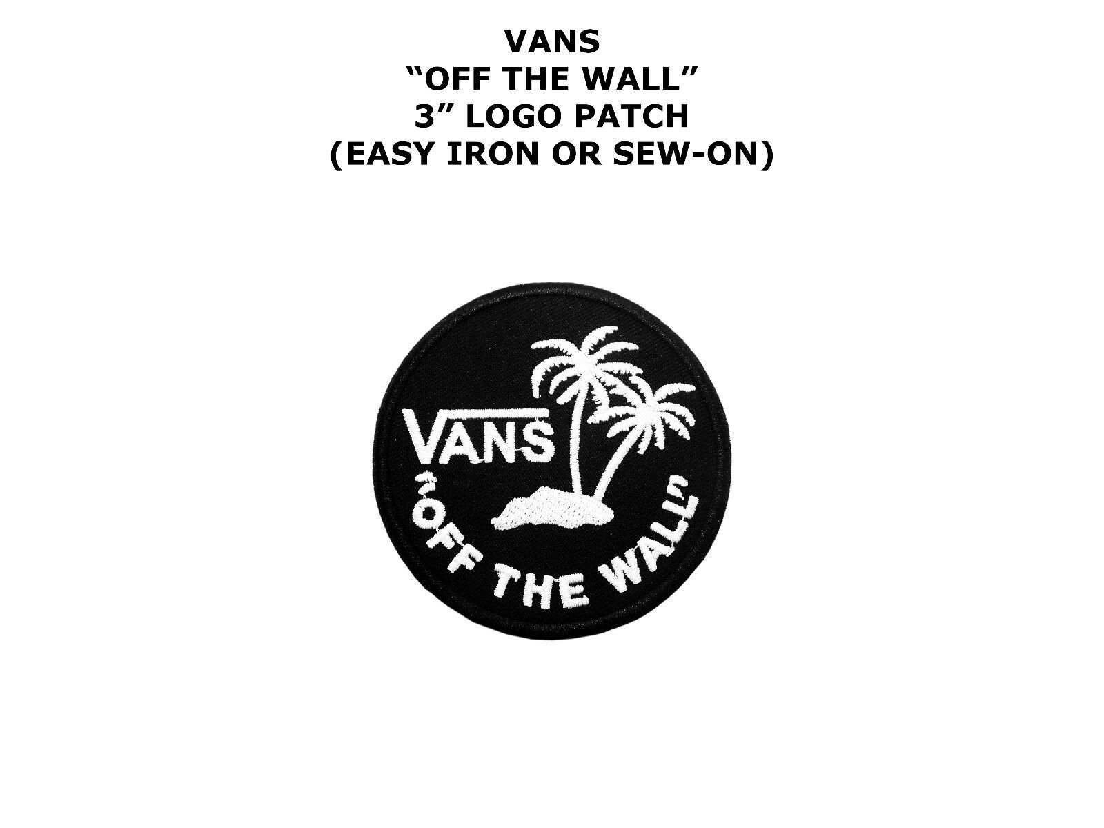 Embroidered Patch Iron Sew Logo Vans Off The Wall Skateboard