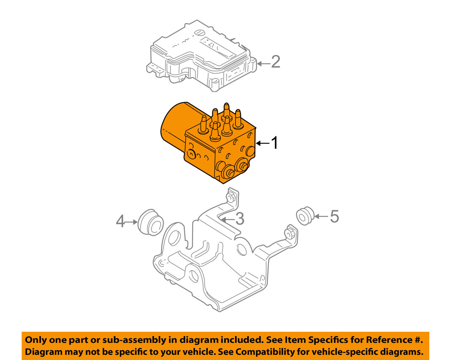 Gm Oem Abs Anti Lock Brakes Modulator Valve 19122463 45084 Diagram 1 Of 2only Available