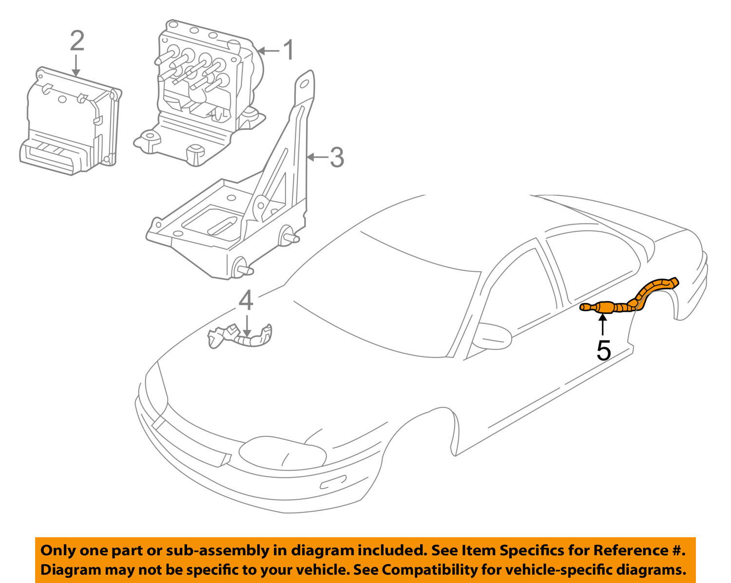 Chevrolet GM OEM ABS Anti-Lock Brake System-Sensor Wiring Harness 12167117  1 of 2Only 1 available ...