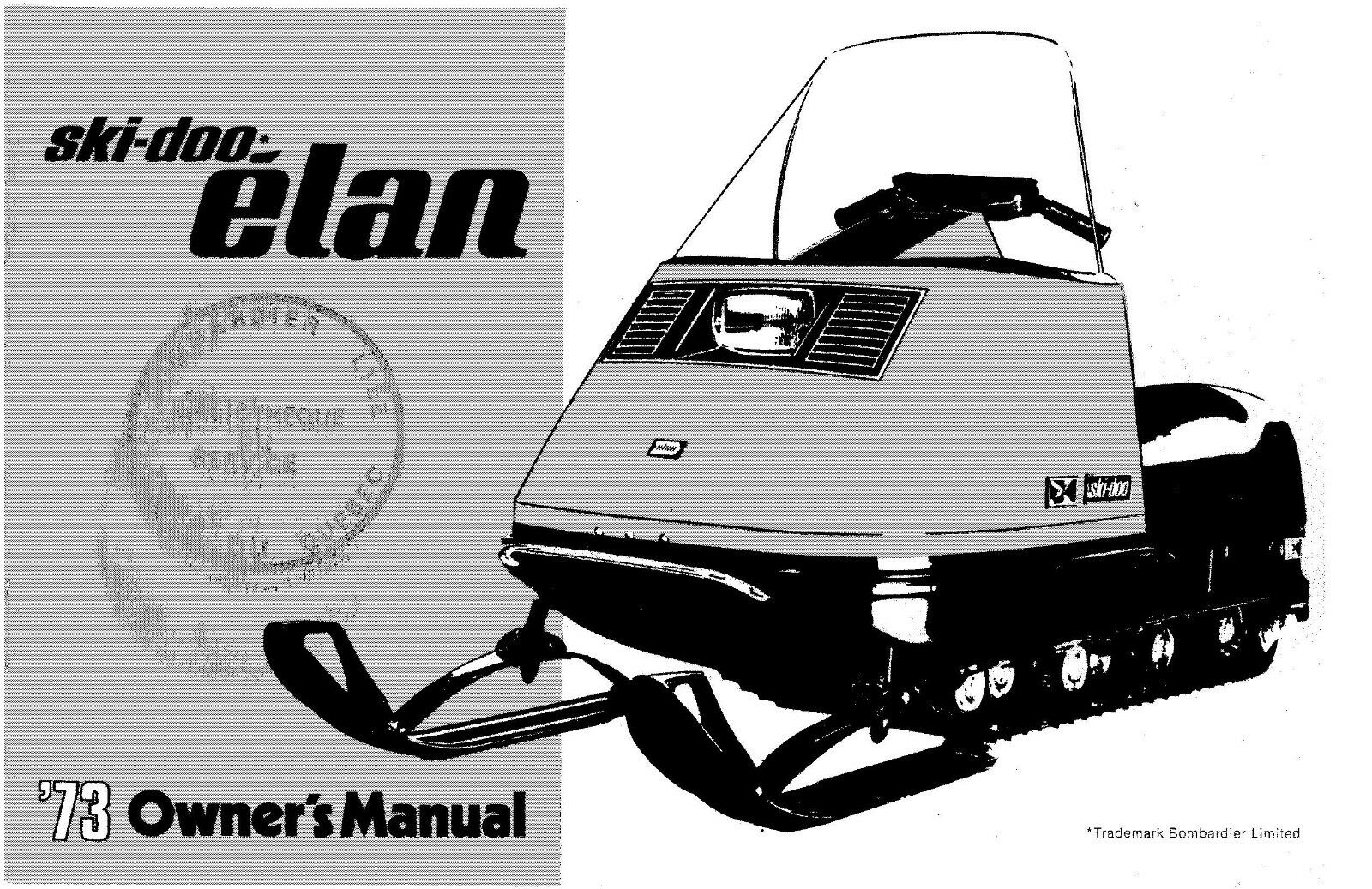 Ski-Doo owners manual book 1973 ELAN 1 of 10Only 1 available ...