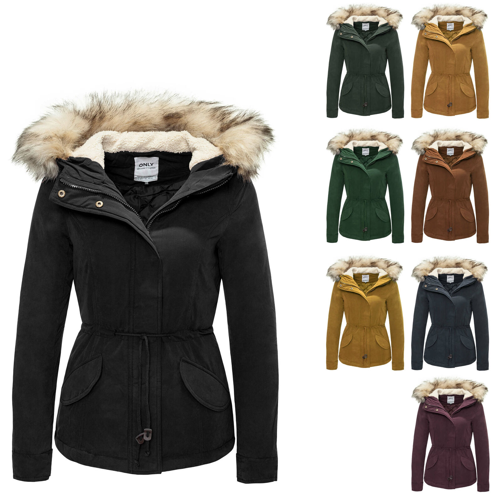 only damen parka kurzmantel winterjacke blouson mantel kapuzenjacke neu eur 37 99 picclick de. Black Bedroom Furniture Sets. Home Design Ideas