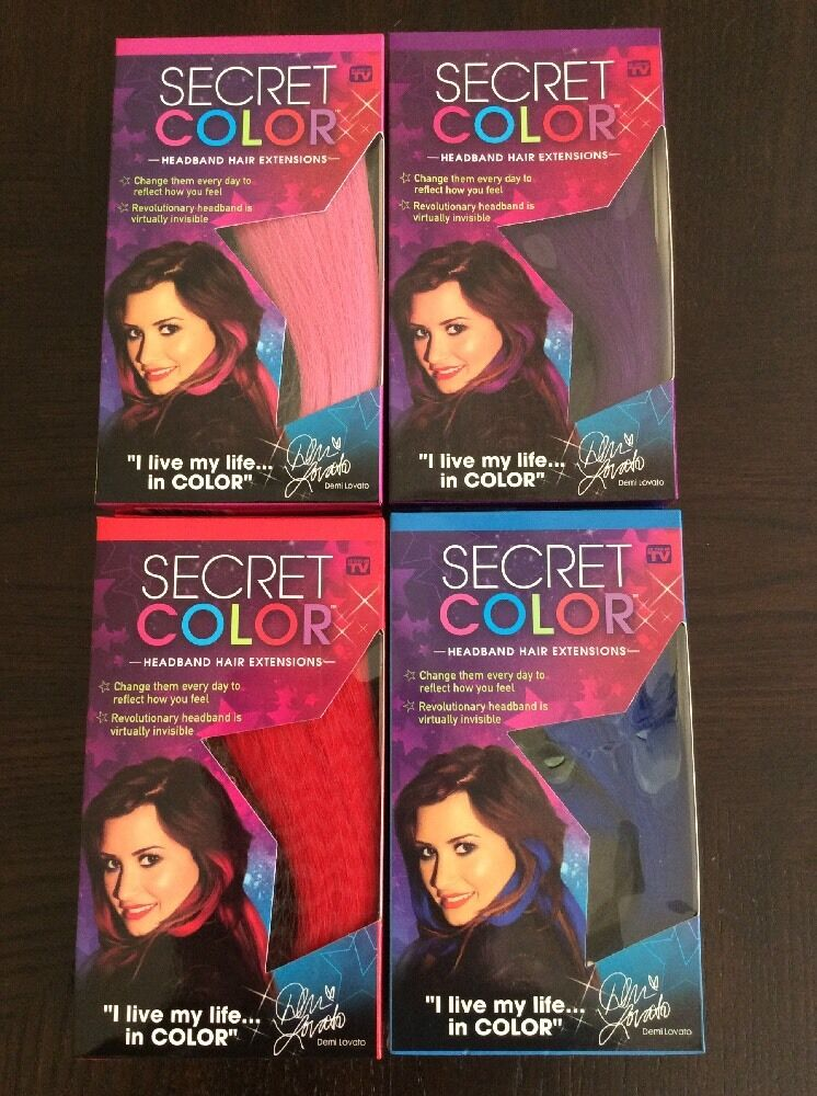 Secret Color Headband Hair Extensions Pink Blue Red Purple As