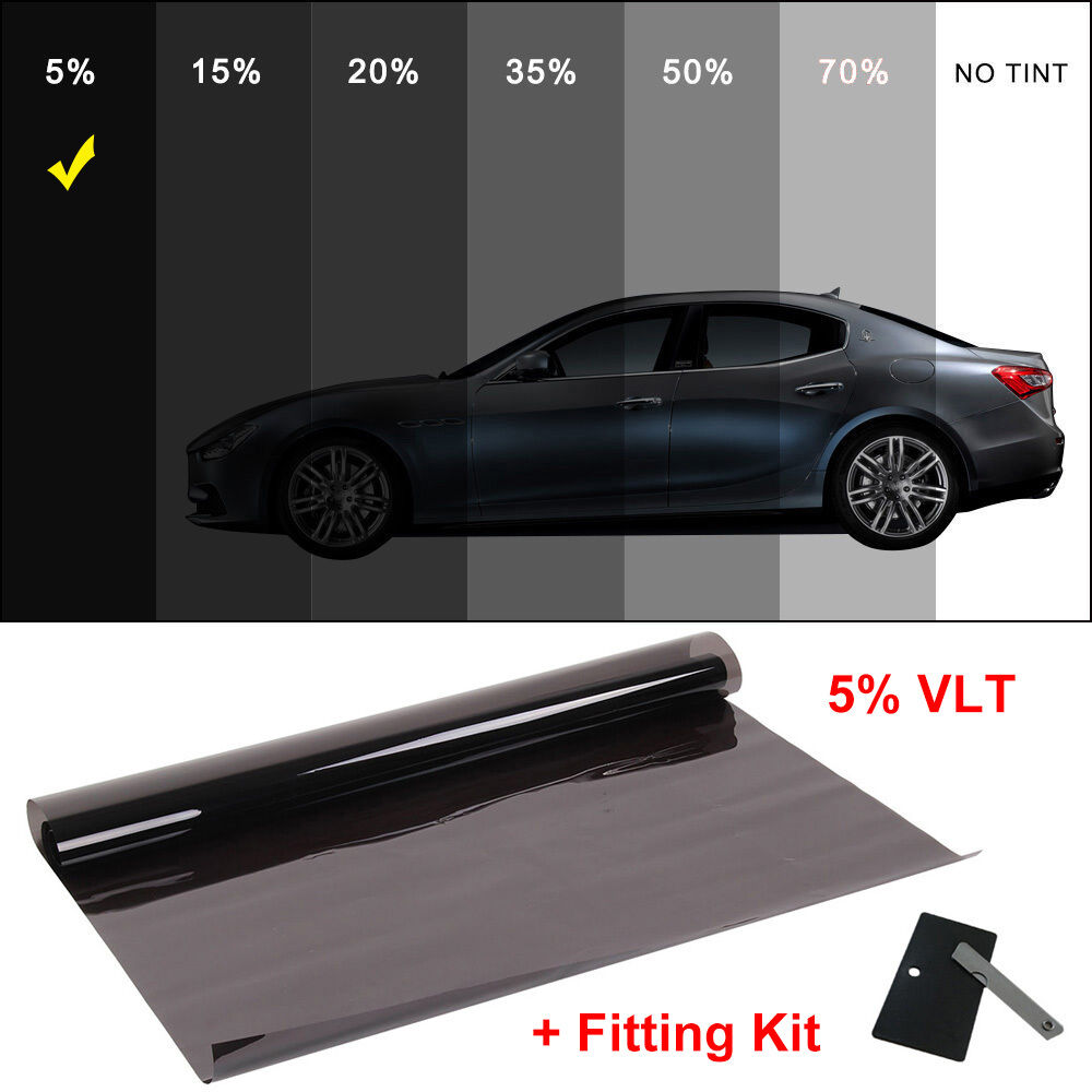 Window film tint dark smoke 5 6m x 76cm 2ply professional for Window tint film