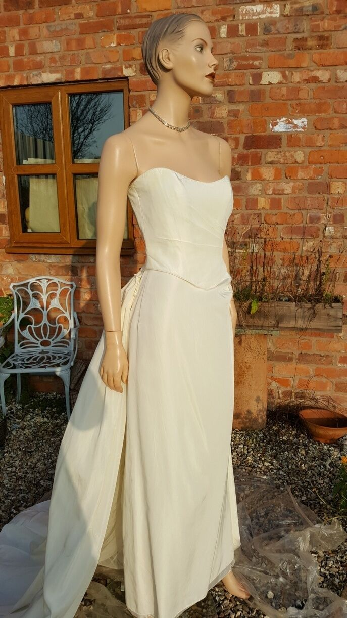 MXM 3 Piece Ivory Wedding Dress Bridal Mother Bride Evening Ball Cruise Prom 12 O GBP1190