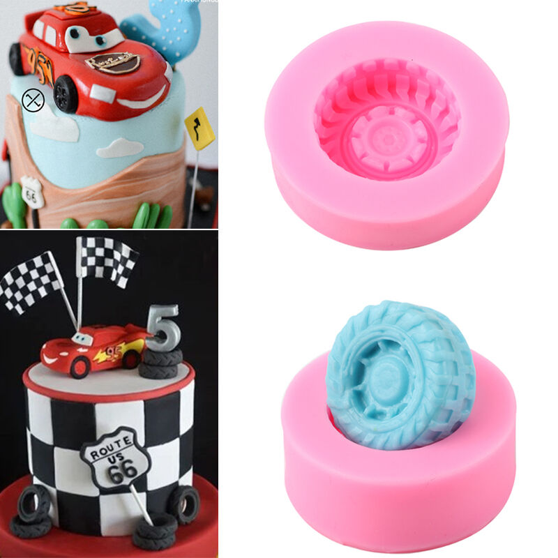 Car Molds For Cake Decorating : 3D Car Tires Silicone Fondant Mold Cake Decorating Baking ...
