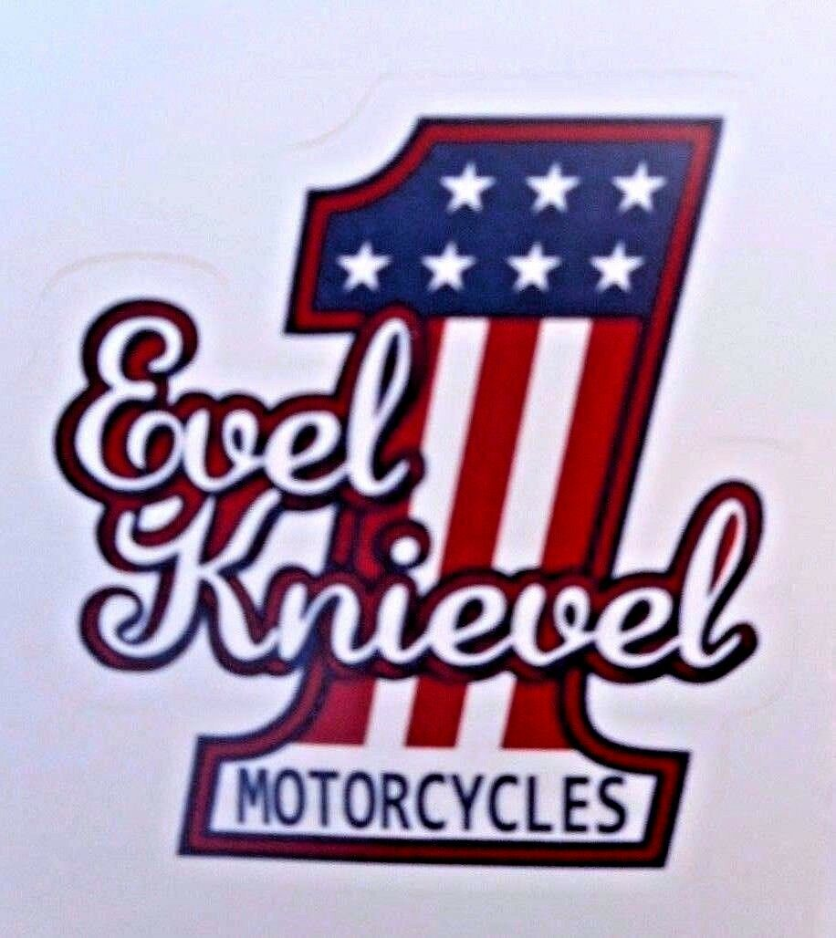 Evel knievel 1 motorcycles retro sticker new 3 x3 classic biker 1 of 2 evel knievel